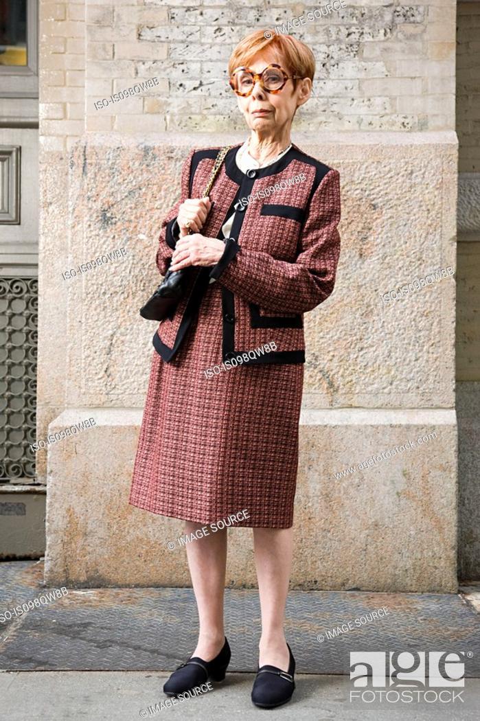 Stock Photo: Portrait of a smart senior woman.