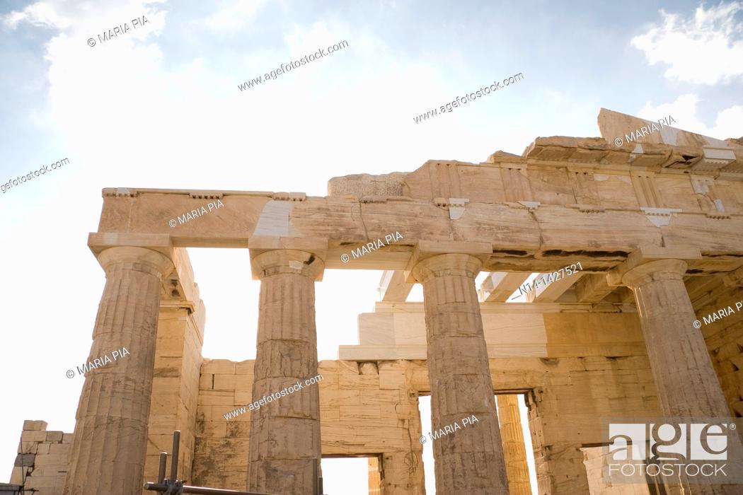Stock Photo: Detail of the Erechtheum, Acropolis, Athens, Greece.