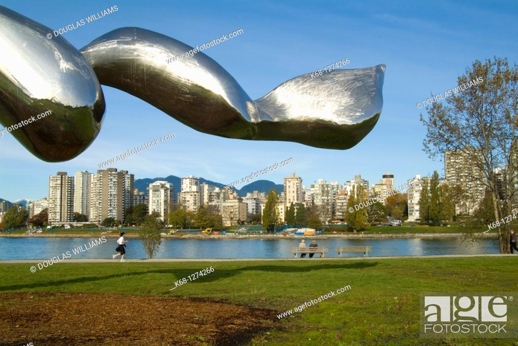 Stock Photo: Freezing Water 7 by artist Jun Ren, in Vanier Park, Vancouver, BC, Canada, part of the Vancouver Biennale.