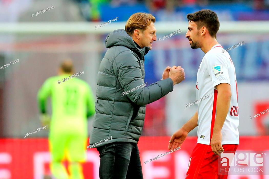 Leipzig Manager Ralph Hasenhuttl And Rani Khedira Ahead Of The German Bundesliga Soccer Match Stock Photo Picture And Rights Managed Image Pic Pah 88479497 Agefotostock