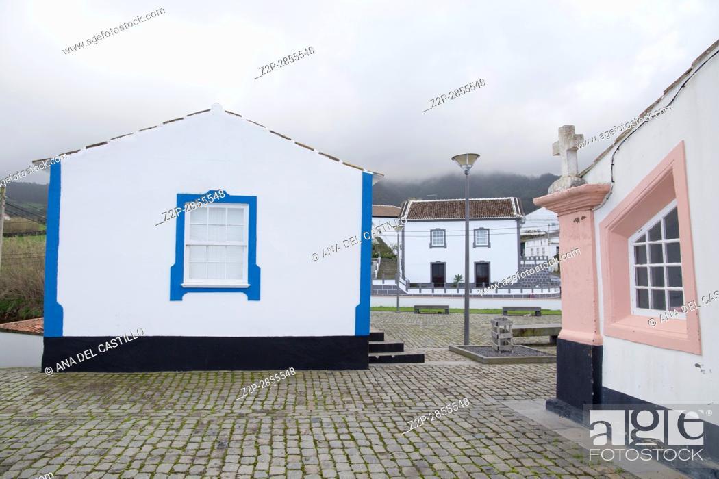 Stock Photo: Typical village in Terceira island Azores Portugal. Quatro Ribeiras.