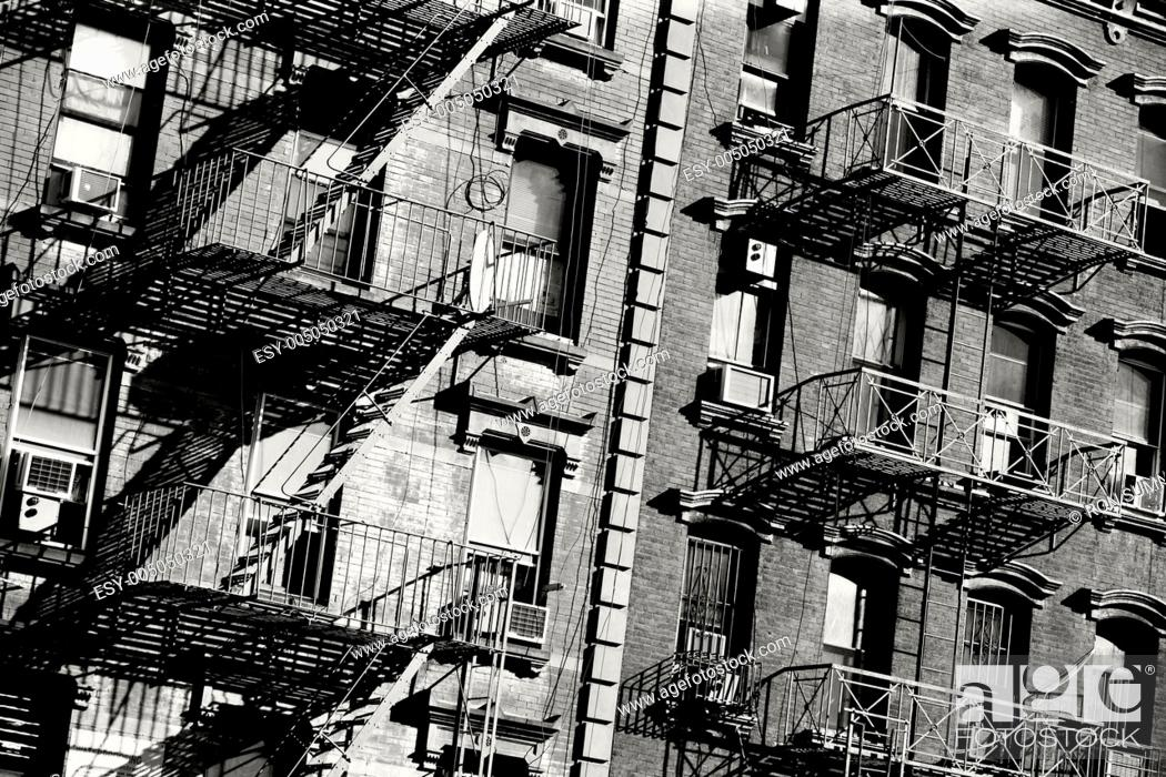Stock Photo: Fire escape.