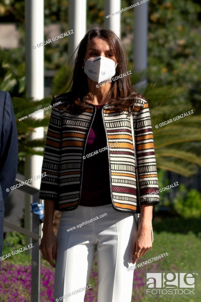 Stock Photo: Queen Letizia of Spain visits 'Mutua Madrileña' Headquarters in Madrid, Spain Featuring: Queen Letizia Of Spain Where: Madrid.