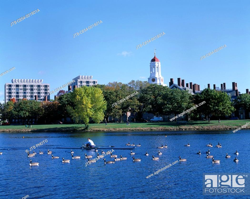 Stock Photo: Charles river, Boston, United States of America.