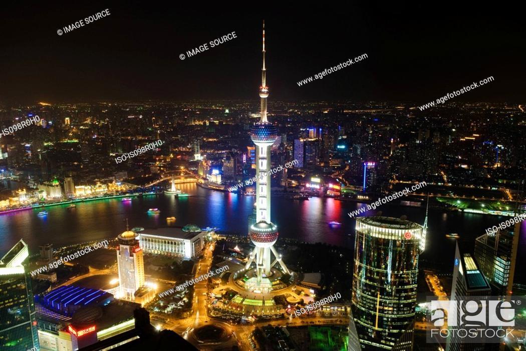 Stock Photo: Oriental pearl tower shanghai.