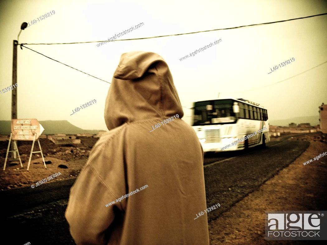 Stock Photo: Muslim in Nekob, Morocco.