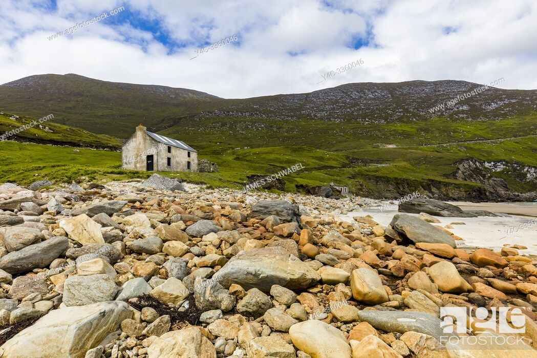 Stock Photo: Keem Bay and beach on the Wild Atlantic Way on Achill Island in County Mayo Ireland.