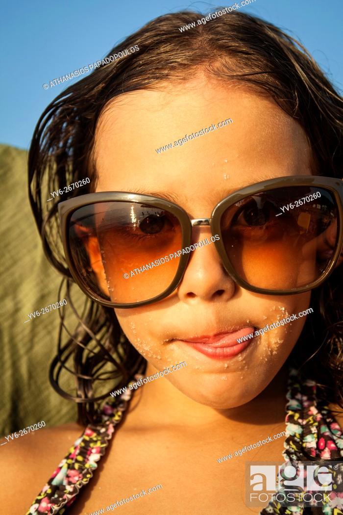 Photo de stock: young girls portrait, Greece.