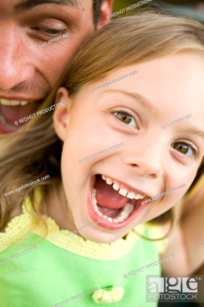 Stock Photo: Father and Daughter in Park.