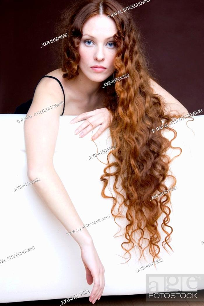 Stock Photo: beauty readhead woman.