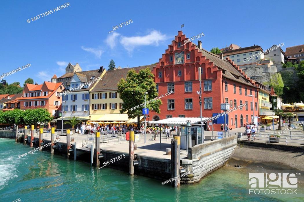 Stock Photo: Meerburg banks on Lake Constance, Baden-Wuerttemberg, Germany, Europe.