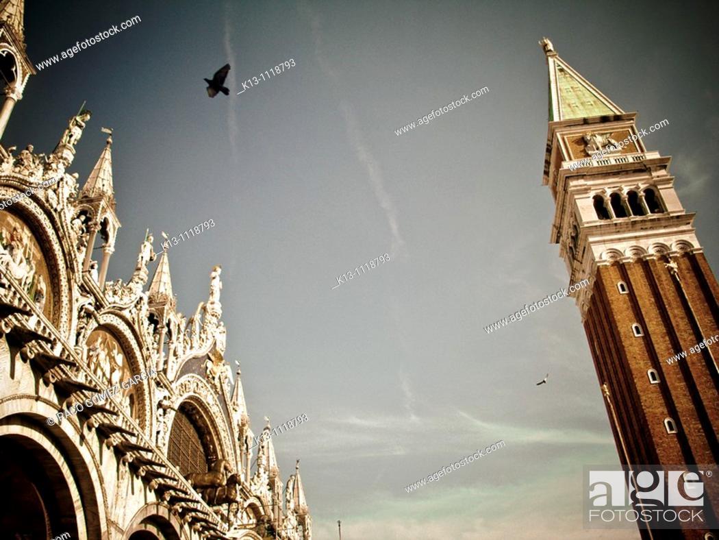 Stock Photo: St Mark's Square, Venice, Italy.