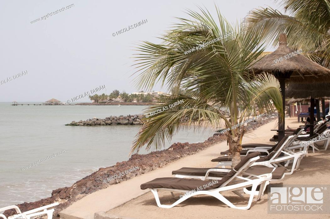 Stock Photo: resort in blue coast senegal.