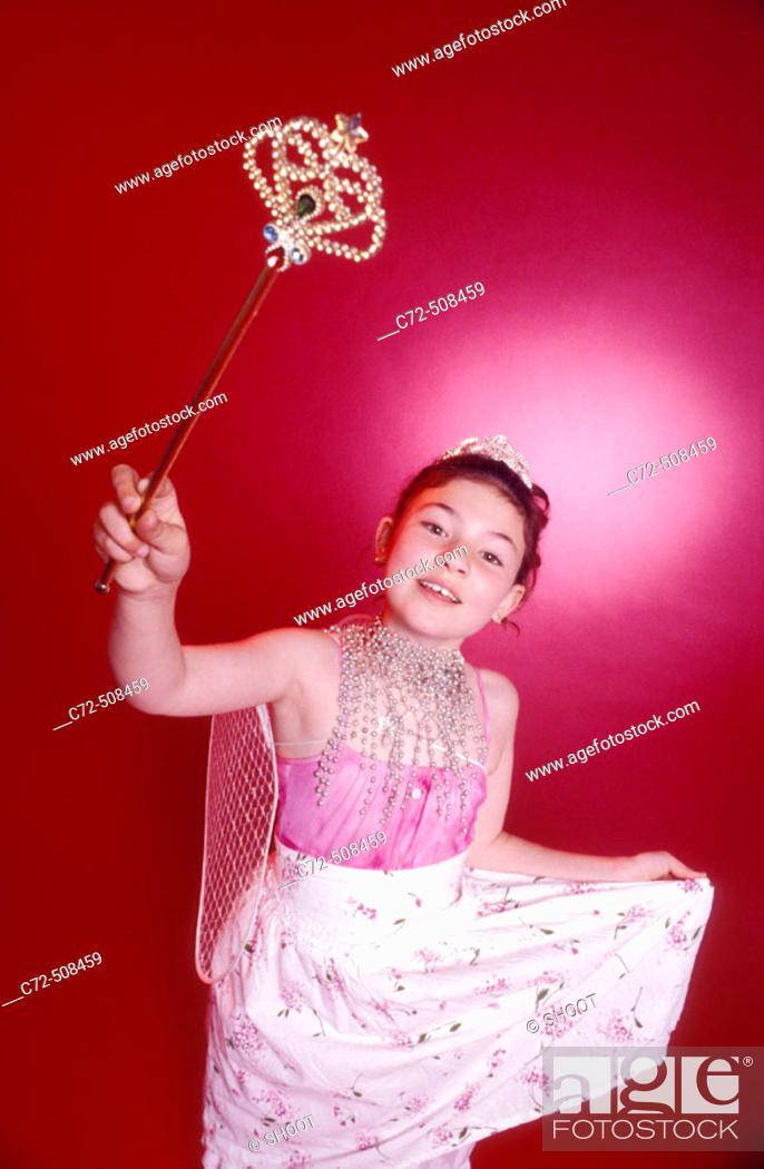 Stock Photo: Girl dressed as fairy princess.