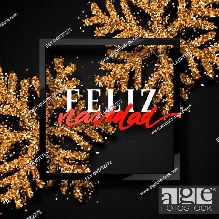 Merry Christmas. Spanish inscription