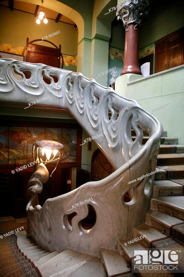 Stock Photo: Sep 2008 - The staircase at Gorky house museum, Moscow, Russia.