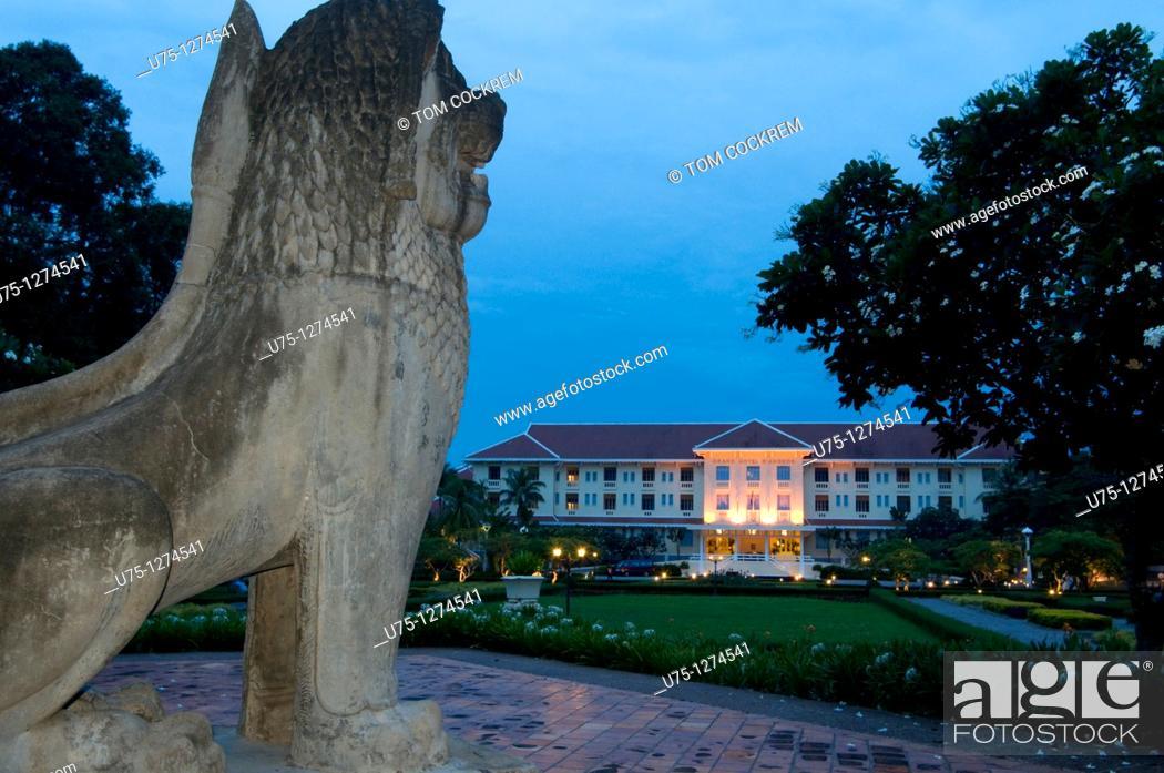 Stock Photo: Hotel Grand D'Angkor, Siem Reap, Cambodia.
