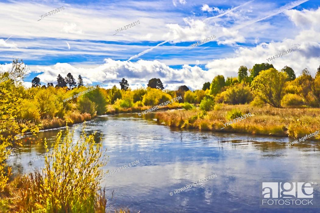 Stock Photo: The Wood River in Southern Oregon, U. S. A.