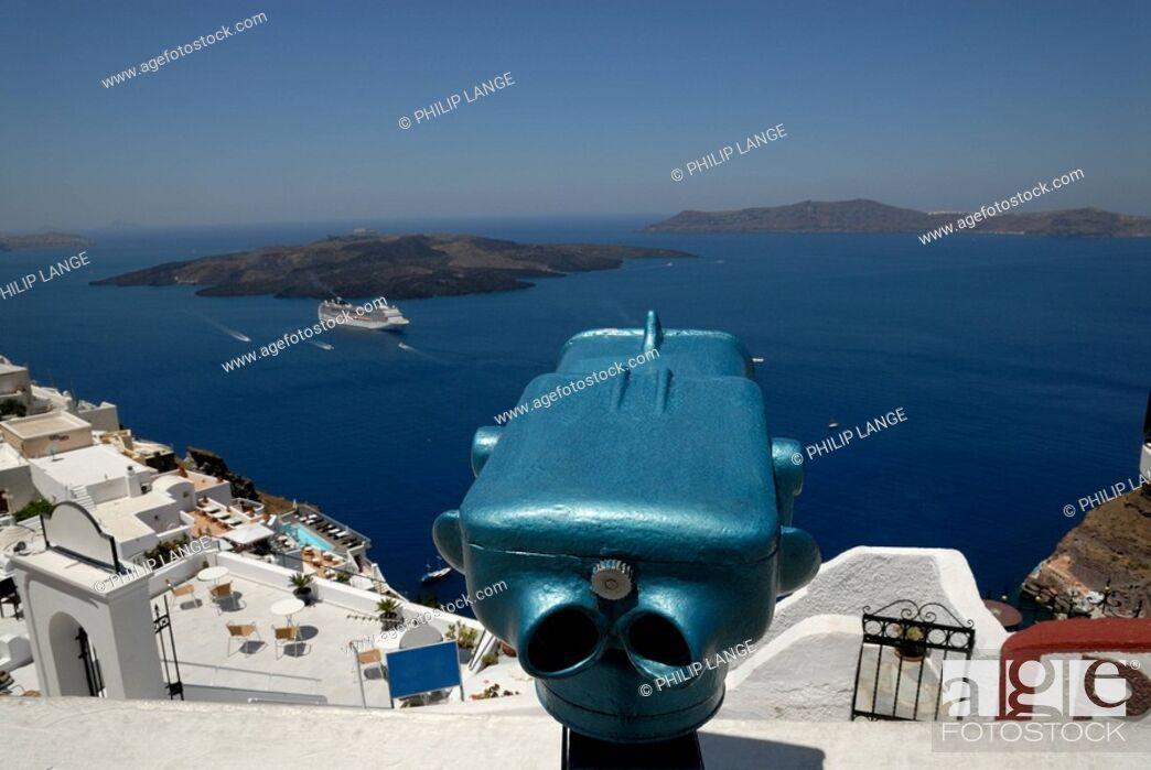 Stock Photo: Blick auf die Caldera, Santorin.
