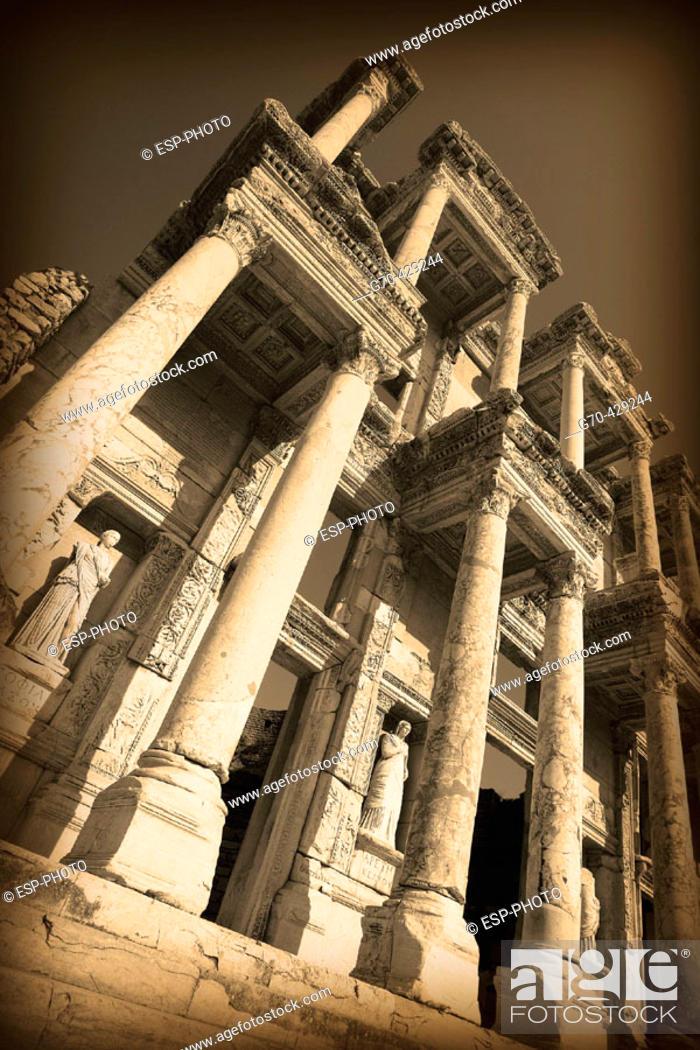 Stock Photo: Library of Celsus, ruins of Ephesus. Turkey.