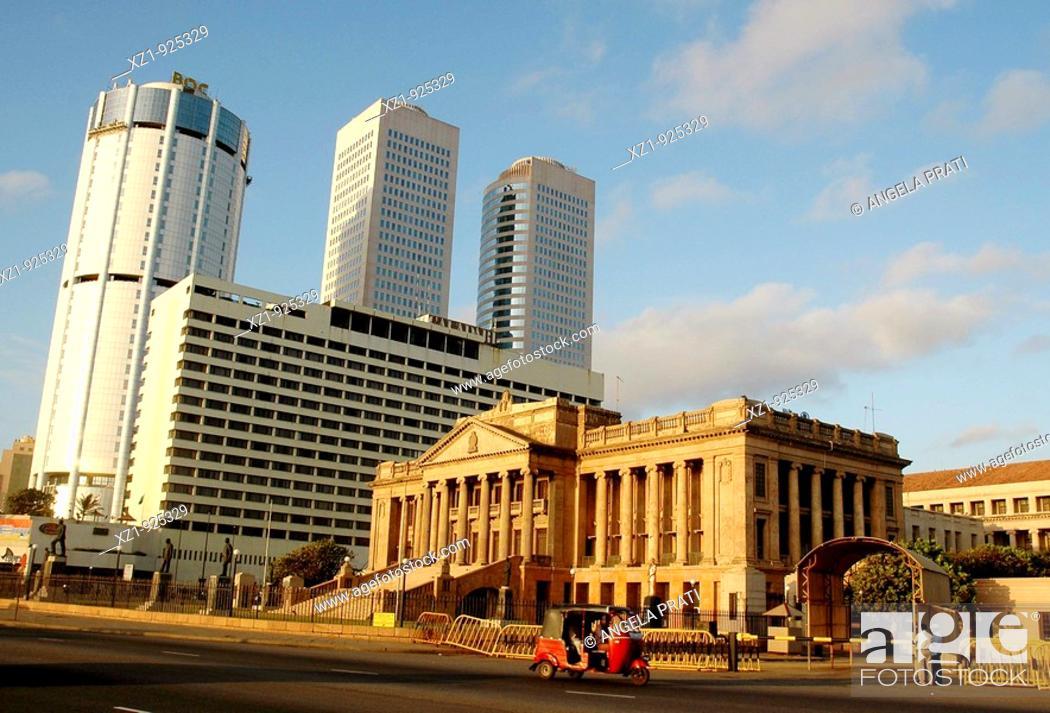 Stock Photo: Old Parliament building, Colombo, Sri Lanka.