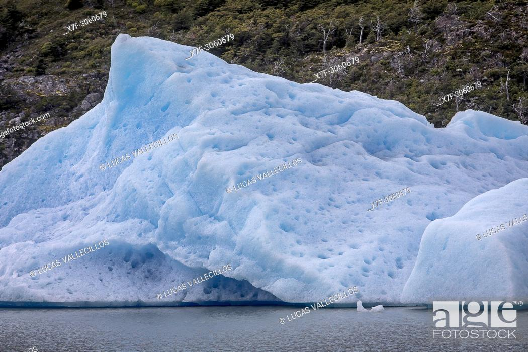 Imagen: Grey Lake, iceberg detached from Grey Glacier, Torres del Paine national park, Patagonia, Chile.