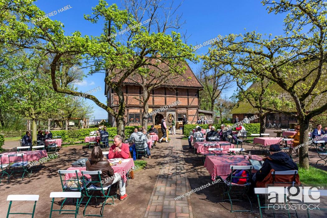 Beer Garden Restaurant Spieker In The Ammerland Open Air Museum In Bad Zwischenahn Ammerland Stock Photo Picture And Rights Managed Image Pic Mba 05051613 Agefotostock