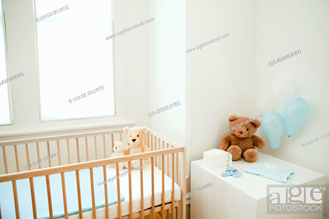 Stock Photo: Bedroom for baby.