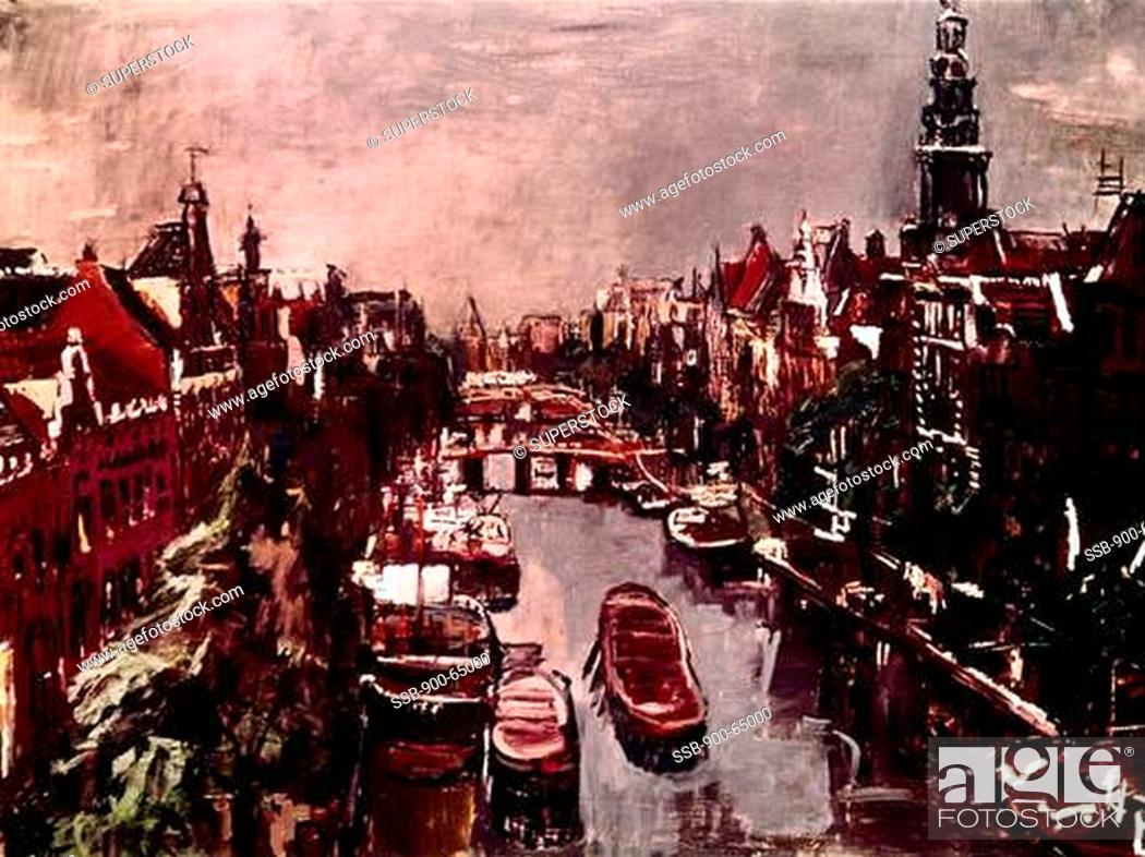 Kloveniersburgwal In Amsterdam By Oskar Kokoschka 1886 1980