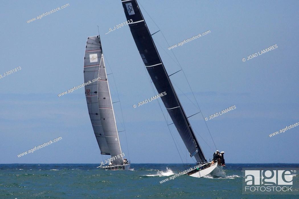 Stock Photo: Action in Sea; Rolex TP 52 World Championship, TP52 Super Serires, Cascais, Portugal | Photos by Joao Lamares / JLpress / AGE fotostock.