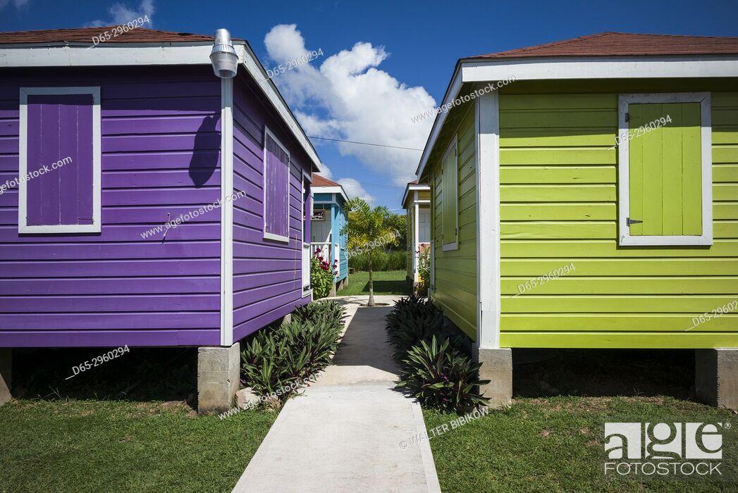 Stock Photo: St. Kitts and Nevis, Nevis, Stuarts, Nevis Craft Village.