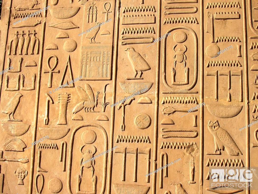 Stock Photo: Heiroglyphs at Karnak.