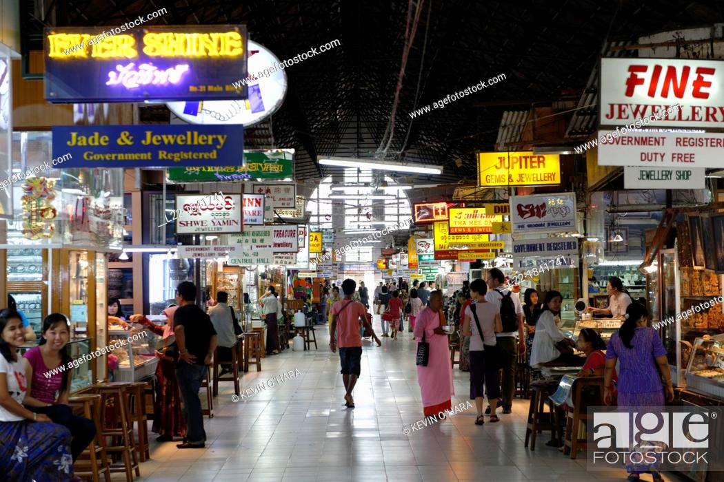 Bogyoke Aung San Market Rangoon Yangon Yangon region Burma Republic