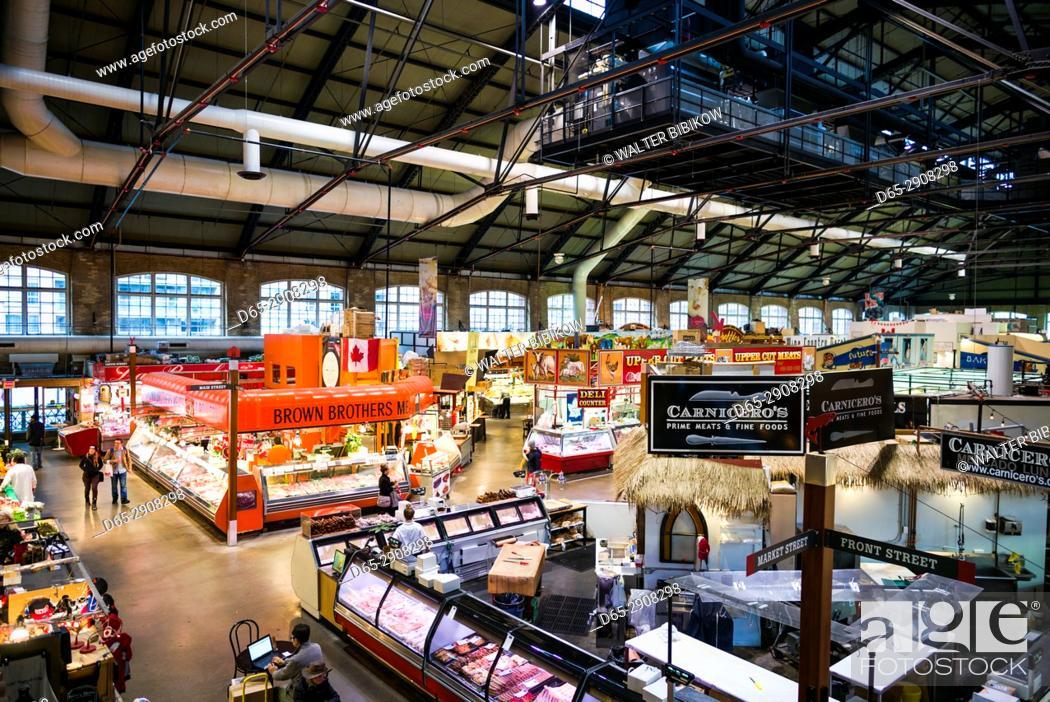Stock Photo: Canada, Ontario, Toronto, St. Lawrence Market, interior.