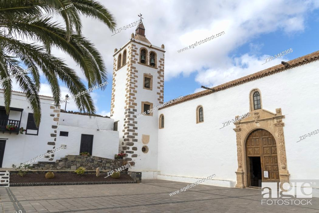 Stock Photo: Fuerteventura Canary islands Spain on December 13, 2019. The historic town of Betancuria. Church of Saint Mary.
