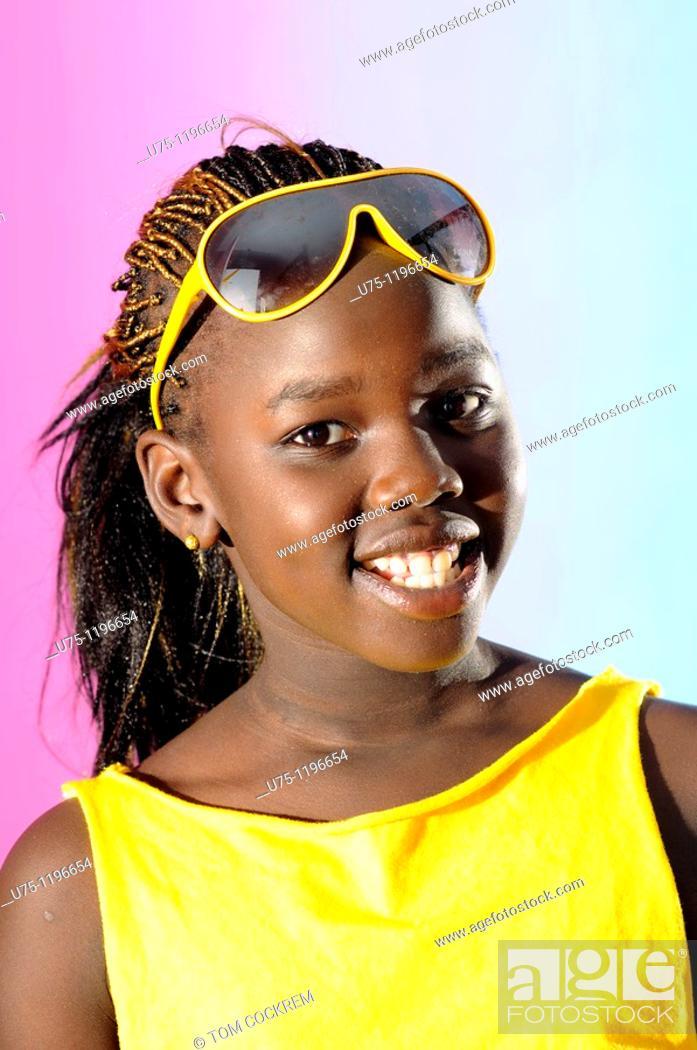 Stock Photo: Black african model.