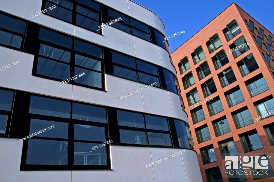 Stock Photo: Cetemmsa building, dorm, Tecnocampus from Maresme, University, Mataro, Catalonia, Spain.