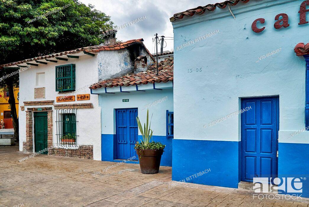 Imagen: old buildings at Plaza Chorro de Quevedo, Bogota, Colombia, South America - Bogota, Colombia, 31/08/2017.