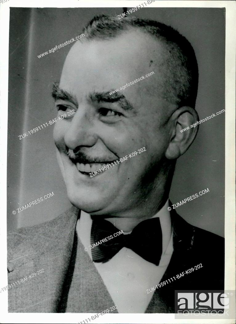Stock Photo: Nov. 11, 1959 - The Man who will Hang Guenther Fritz Podola - was a Friend of his Victim: Mr. Harry Allen the hangman - who will tomorrow execute Guenther Fritz.