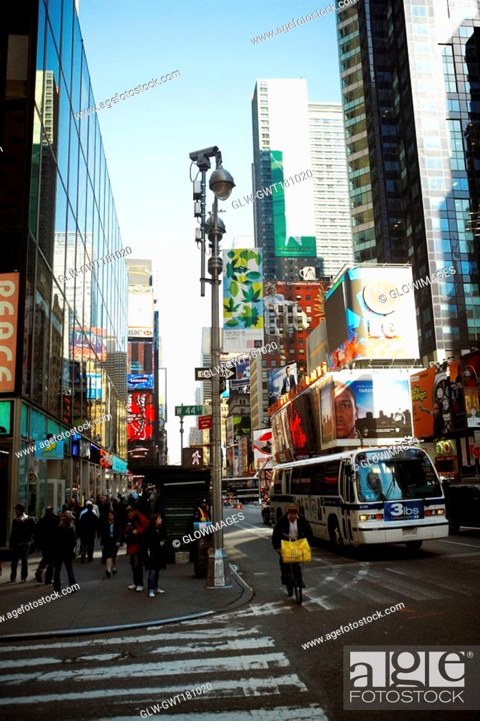 Stock Photo: Buildings in a city, Times Square, Manhattan, New York City, New York State, USA.