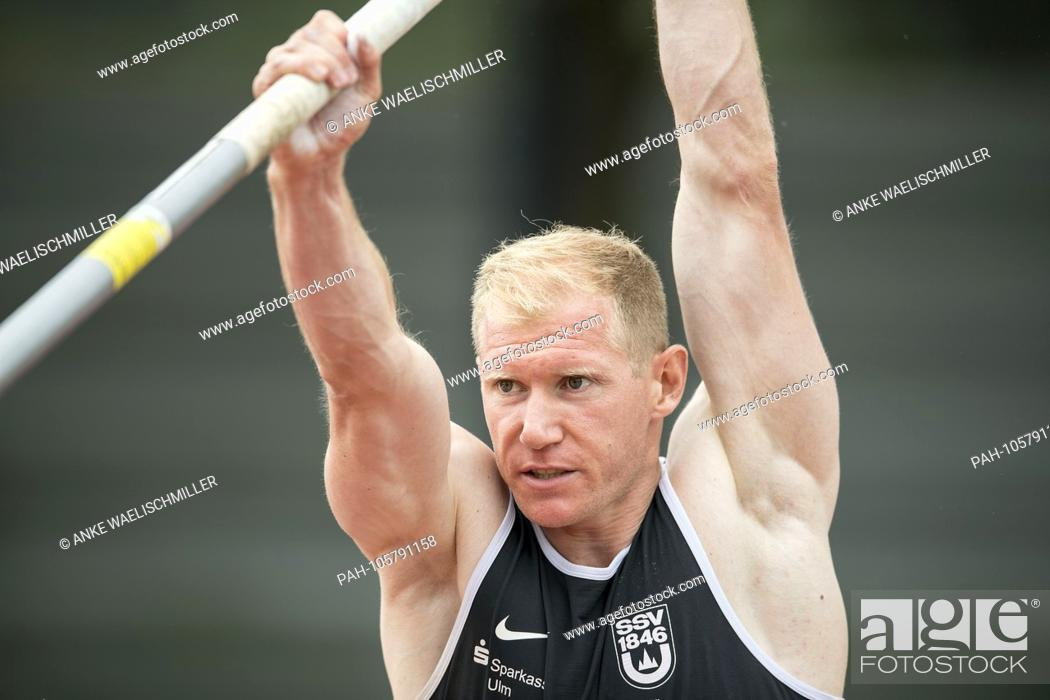 Stock Photo: Arthur ABELE (GER / SSV Ulm 1846), pole vault of the men, on 17.06.2018 Athletics Stadtwerke Ratingen All-around meeting, from 16.06. -17.06.