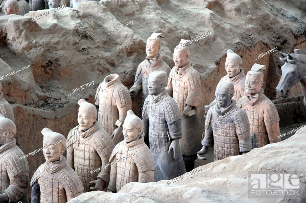 Stock Photo: Terracotta Army, Mausoleum of the First Qin Emperor near Xi'an, China.