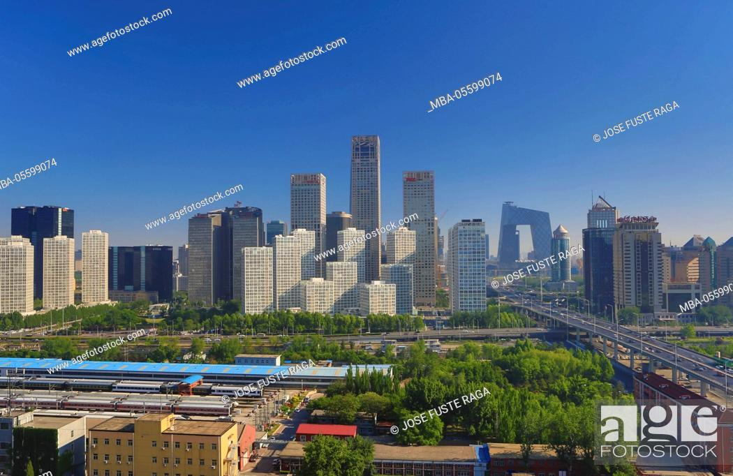 China, Beijing City, Guomao District skyline, East second