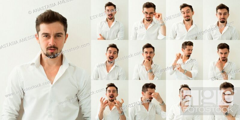 Stock Photo: Set of emotions. Different emotions.