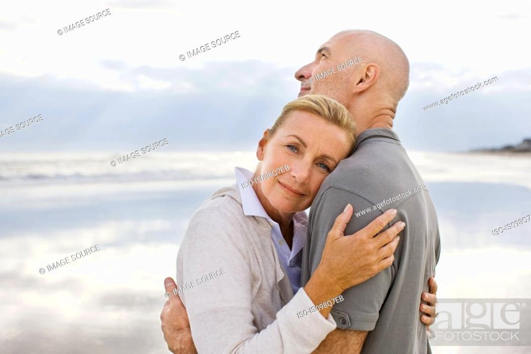 Stock Photo: Couple by the sea.