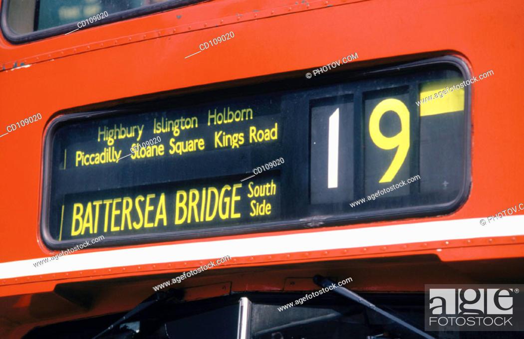 Stock Photo: Bus. London. England.