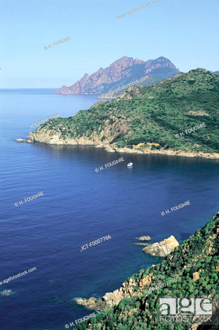 Stock Photo: France, Corsica, Gulf of Porto, Girolata.