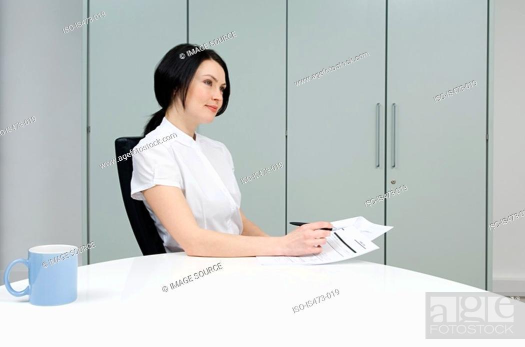 Stock Photo: Woman thinking.
