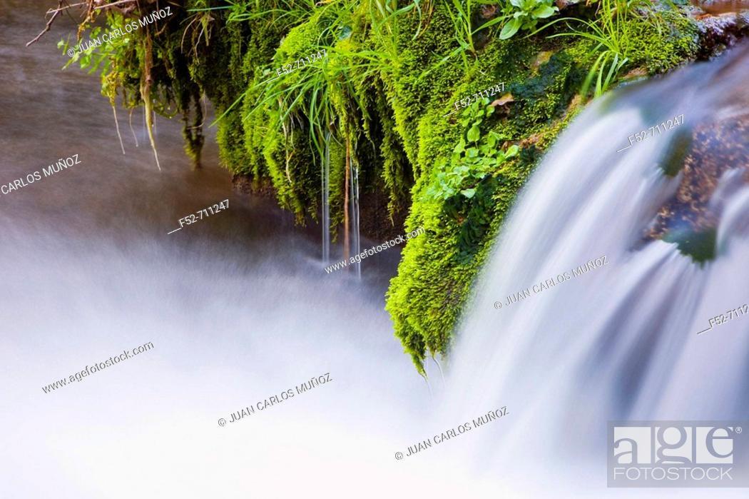 Stock Photo: Natural Monument waterfalls of Huesna. Sierra Morena. Natural Park of 'Sierra Norte'. Spain.