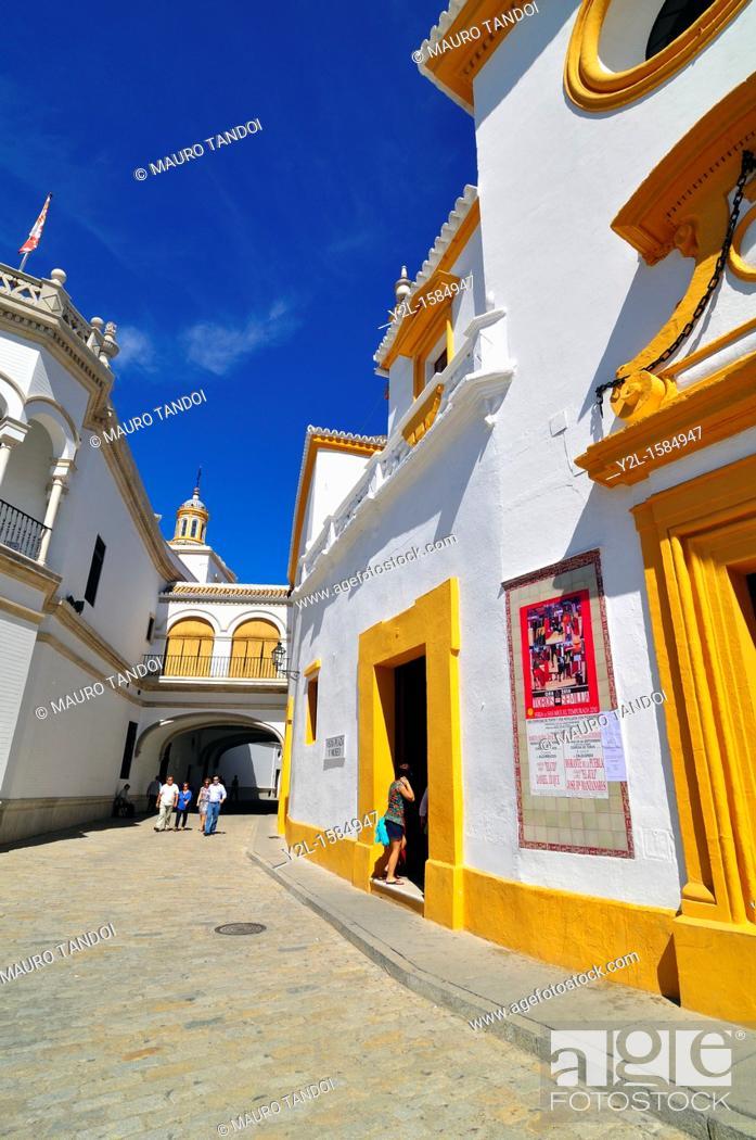 Stock Photo: La Maestranza bullring, Sevilla  Andalucia, Spain.